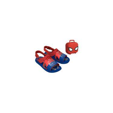 Imagem de Sandália Infantil Grendene Kids Marvel Hero Case com Maleta - Azul/Vermelho - 22505