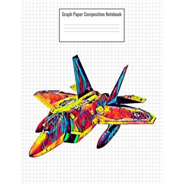 Graph Paper Composition Notebook: Quad Ruled 5 Squares Per Inch, 110 Pages, Jet Fighter Army Plane Cover, 8.5 X 11 Inches / 21.59 X 27.94 CM