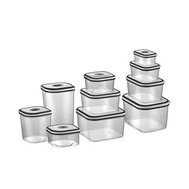 Imagem de Kit Potes de Plástico Hermético, 10 unidades, Electrolux