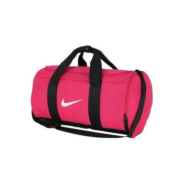 Mala Nike Team Duffle - 27 Litros - Rosa Esc Preto Nike 7e42fe21605b1