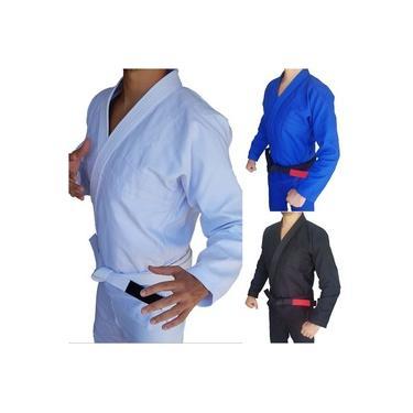 Kimono Jiu-Jitsu Trançado Adulto com Faixa Branca