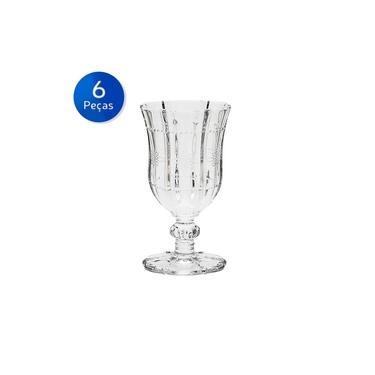 Conjunto 6 Taças de Vidro para Vinho Tinto 260ml Knot - Bon Gourmet - Transparente