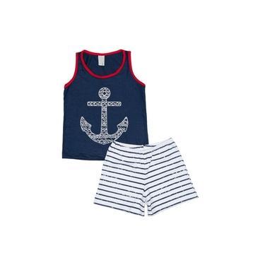 Pijama Infantil Marinha Santista - G - Marinho
