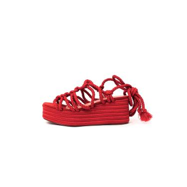 Imagem de Sandália de Corda Trançada Damannu Shoes Brooke Vermelho Ruggine  feminino