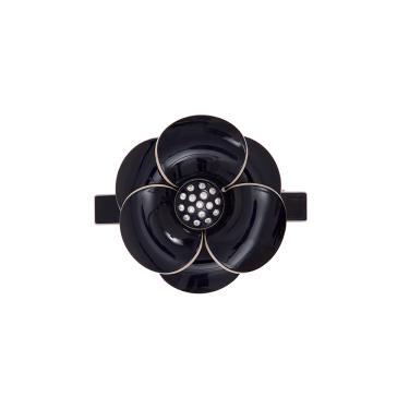 Presilha acrílico camélia strass botão  Preto
