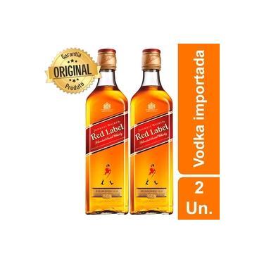 Kit 2 Whisky Importado Johnnie Walker Red Label 750ML