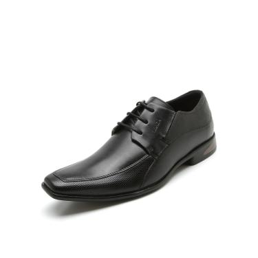 Sapato Social Couro Ferracini Cadarço Preto Ferracini 3671-203G masculino