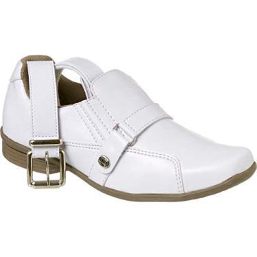 Sapato Social Classic com Cinto Infantil Menino Redmax A930-001 Branco 23