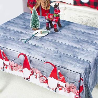 Imagem de MuYiYi11 Toalha de mesa com tema de Natal, toalha de mesa de jantar 3D, decoração de festa de Natal para casa, 150 cm x 180 cm 1