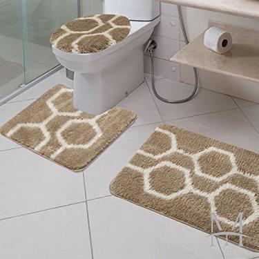 Imagem de Jogo de Tapetes para Banheiro 3 Peças Jolitex Absolut Favo