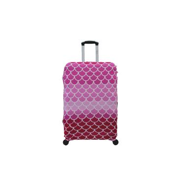 Capa Protetora para Mala de Viagem Grande Elastano Rosa ys27075
