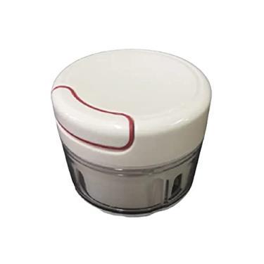 Imagem de Mini Triturador Processador de Alimentos Manual Para Alho Cebola