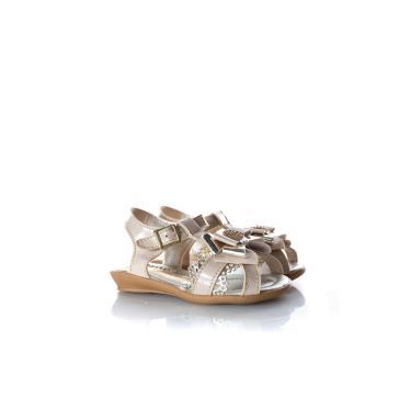Imagem de Sandália Infantil Menina Glitter Laço Metalizado Marfim  feminino