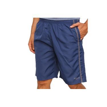 Imagem de Bermuda Speedo Masculina Dry Fit Bold Bolso Corrida 139569 Marinho/Cinza