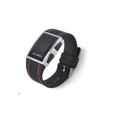 b7c1d023822 Relogio Masculino Sport Black Led Digital Iluminado Vermelho
