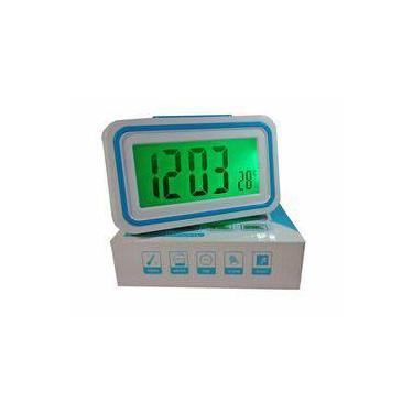 53fce3e2f69 Relógio Digital Despertador Fala Hora Deficiente Visual