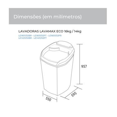 Imagem de Lavadora de Roupa LE1601BR Semi Automática Lavamax Eco 16 KG Suggar - Branco