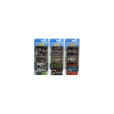Imagem de Pacote de 5 rodas Hot Wheels Fast Pack com 15 carros, 3 pacotes de 5 de 1:64 em veículos de corrida com tema Speed Blur, Nightburnerz e hw Flames, presente para colecionadores e crianças com 3 anos ou mais Amazon Exclusive