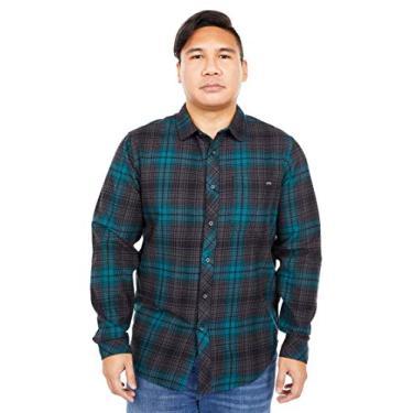 Billabong Camisa masculina clássica de flanela de manga comprida, Charcoal, S