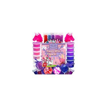 Imagem de Princess Unicorn Slime Kit para Meninas - Fluffy Unicorn Slime, Glow-in-The-Dark Slime Mixing Fun, 12 Cores - Kit de Lodo Mais Elástico, Brilho de Lodo, Rosa diy, Artesanato e Brinquedos Presente para Meninas