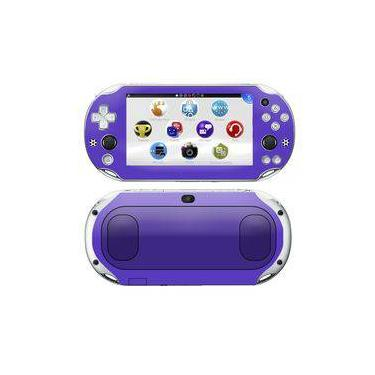 Kit Skin Adesivo Protetor Ps Vita Playstation 2000 Slim (roxo)