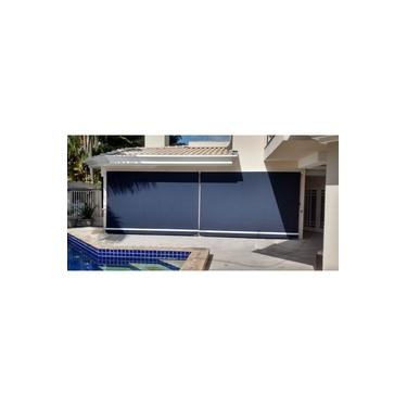 Toldo cortina retrátil para proteção de sacadas, churrasqueira, áreas de lazer, fechamento de garage