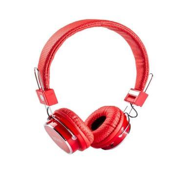 Fone de Ouvido Headset com Bluetooth SD FM B05 - Vermelho