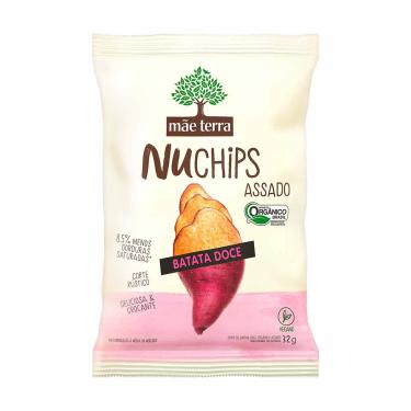 Chips Mãe Terra Nuchips Batata Doce Assada com 32g 32g