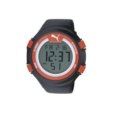 2235af567be Relógio Digital Puma 96266MO - Masculino - PRETO VERMELHO Puma