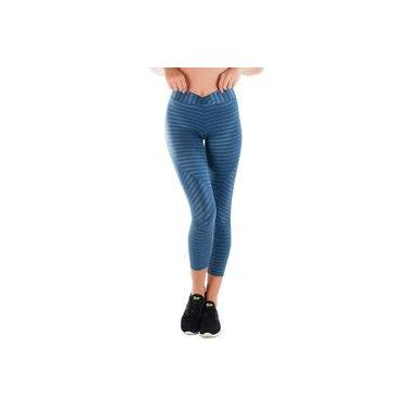 Imagem de Calça Legging Poliamida Azul Cintilante | New Vision Az
