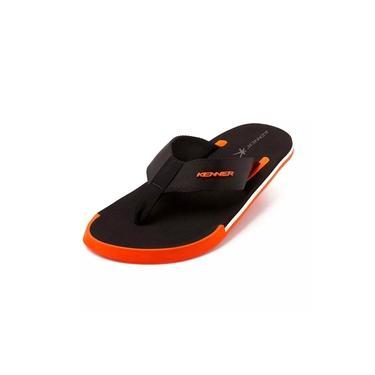 Sandália kenner kick s tum - preto e laranja