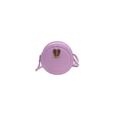 1 Pc Zipper Design Mini Bag Atraente moda Shoulder Bolsa (violeta)