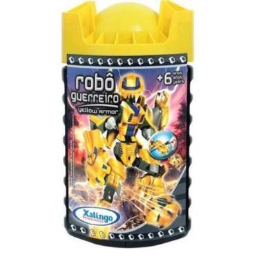 Imagem de Blocos De Montar Robô Guerreiro Yellow 57Pçs  Armor Xalingo