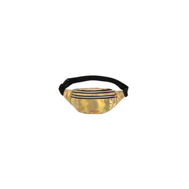 Imagem de Bolsa feminina moda laser de cintura com padrões geométricos Bolsa Bolsa Lasar de alta qualidade Bolsa dobrável (cor: azul / preto / rosa / roxo / prata / dourado / vermelho) ouro