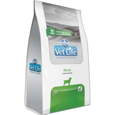 Ração Farmina Vet Life Natural Renal para Cães Adultos com Insuficiência Renal - 2 Kg