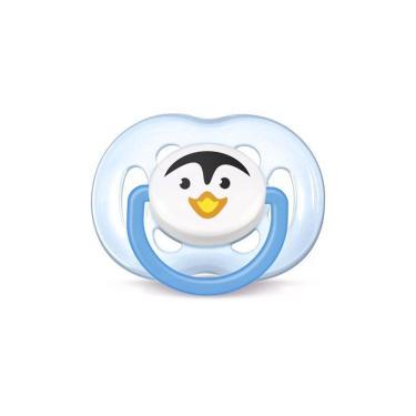 Chupeta Philips Avent Freeflow Pinguim 6 á 18 Meses Azul