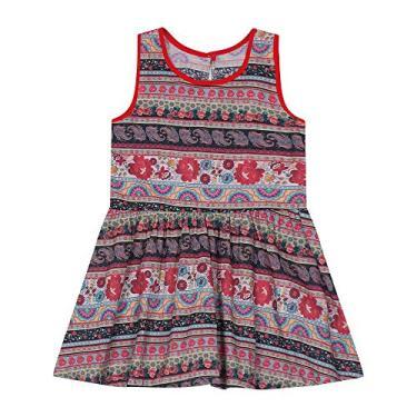 Vestido Infantil Estampado Rovitex Kids Vermelho 6