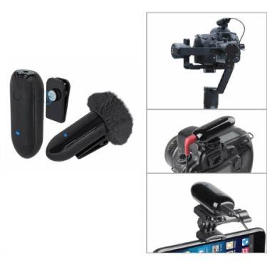 Sistema Slim Microfone Lapela Sem Fio LensGo 318C Wireless para Smartphone, Câmeras e Filmadoras (Preto)