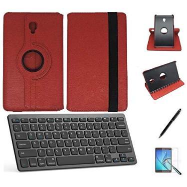 """Kit Capa/Teclado/Can/Pel Galaxy Tab A T590/T595 10.5"""" Verm"""