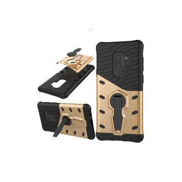Antiderrapante capa protetora resistente à prova de choque Robot Armor tampa do telefone com suporte para Samsung S9 Além disso,
