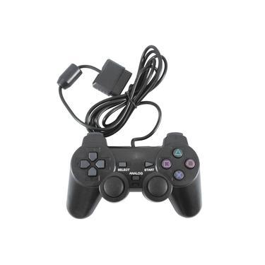Controle para Playstation 2 PS2 Com Fio - Cor Preto