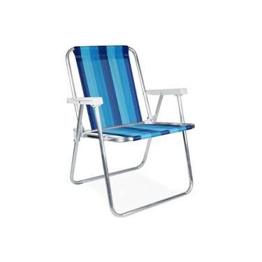Cadeira de Praia e Piscina Alumínio Alta Reforçada 110 kg - MOR