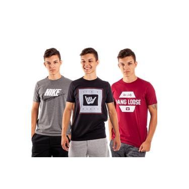 Kit 8 Camisetas Blusas Camiseta Masculinas Plus Size G1 G2 G3