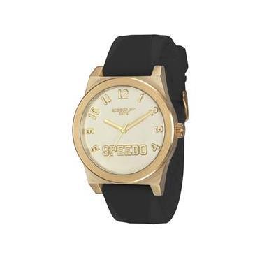 2d58e01206a Relógio Feminino Speedo 64011LPEVDI2 Analógico Preto Dourado