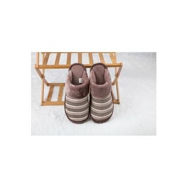 pantufa Fluff macio quente e impermeável antiderrapante adulto homens e mulheres chinelos sapatos de fundo grosso em casa
