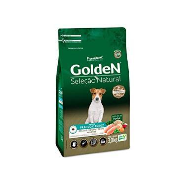 Ração Golden Seleção Natural Para Cães Adultos De Raças Pequenas Mini Bits, 3Kg Premier Pet Para Todas Grande Adulto,