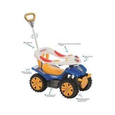 Andador Infantil quadriciclo Biemme Dudu Car Style com hastes - Azul