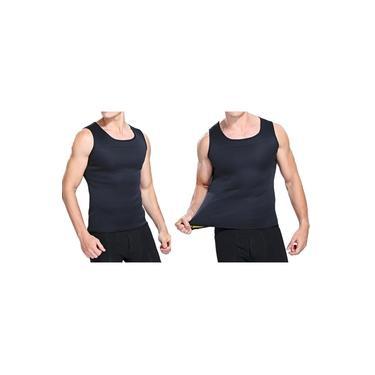 Camiseta Modeladora Hot Reduz Medidas Cinta Masculina Ação Térmica