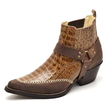 Bota Top Franca Shoes Country Caramelo  masculino