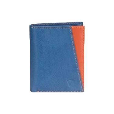 Carteira Montevidéu azul e laranja